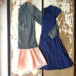 2 Dresses Bundle French Sparkle Tutus & Hearts